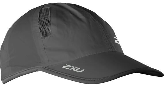 """2XU Run Cap Black/Black"""